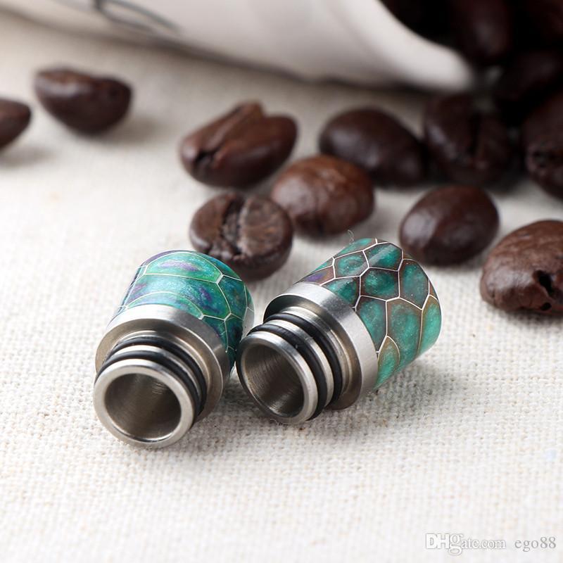 510 Poland Drip Tip Delrin Epoxy Resin Mouthpiece Wide Bore Drip Tips for RDA Atomizer E Cigs