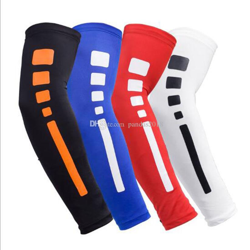 Arm Sleeve Cycling Compression Arm Warmers Elbow Protector Pads Support