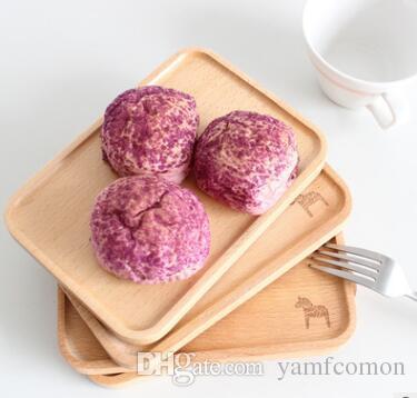 Творческие блюда и здоровый натурального дерева лоток Закусочная тарелка Фруктовый десерт Деревянная посуда на заказ лазер