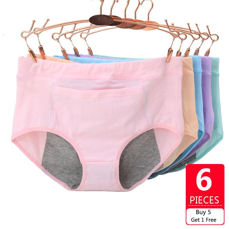 Menstrual Period Underwear Pants Seamless Leakproof Briefs Cotton Physiological