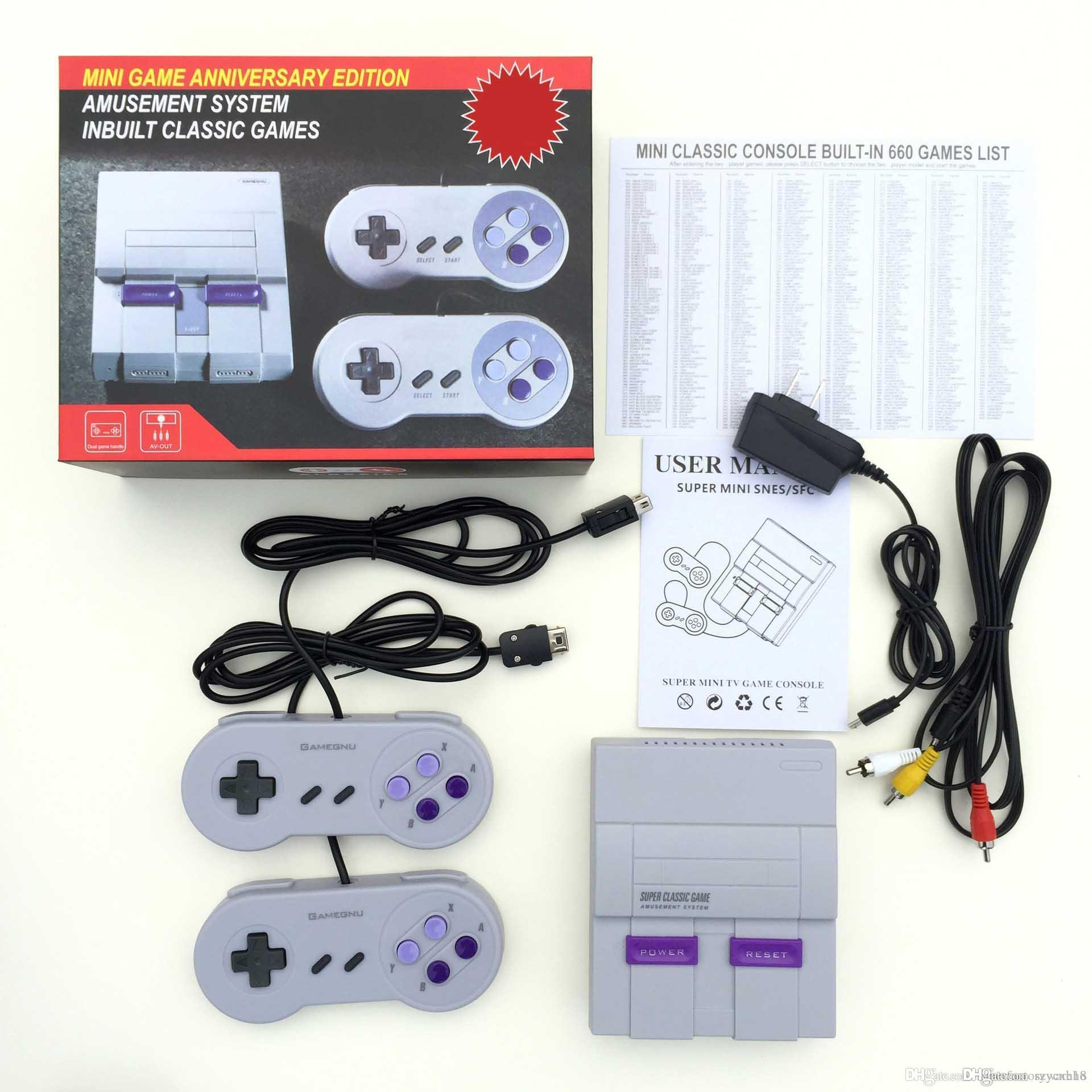 Nes SUPER CLASSIC SNES GAME TV Video Handheld Retro Classic Game Console Entertainment System Also Sale PXP3 PVP