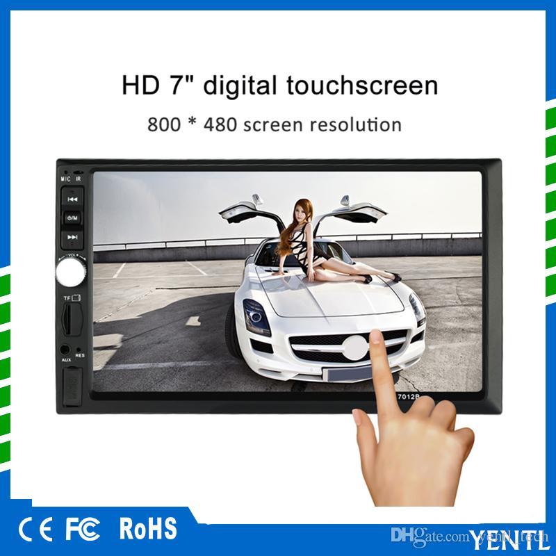 Freies Verschiffen yentl 2 Din-Auto-DVD-Stereo-Radio-Spieler 7 Zoll HD im Schlag-Touch Screen Bluetooth Auto-Spieler-Unterstützung Spieler FM / MP5 / USB / AUX MP5