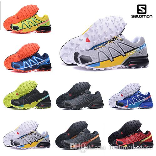 Wholesale New Arrival Salomon Speed Cross IV Speedcross 4 4s Trail Runner Dark Red Men Running Shoes Sports Shoes Fashion Outdoor Sneakers Running