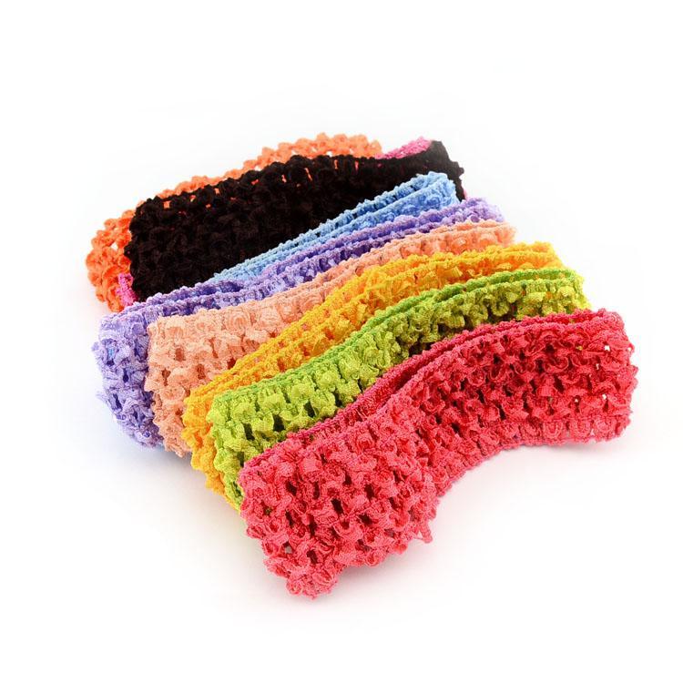 18pcs/lot Kids Stretchy Elastic Hair Band Newborn Kids TuTu Crochet Headband For Kids Hair Accessories 597