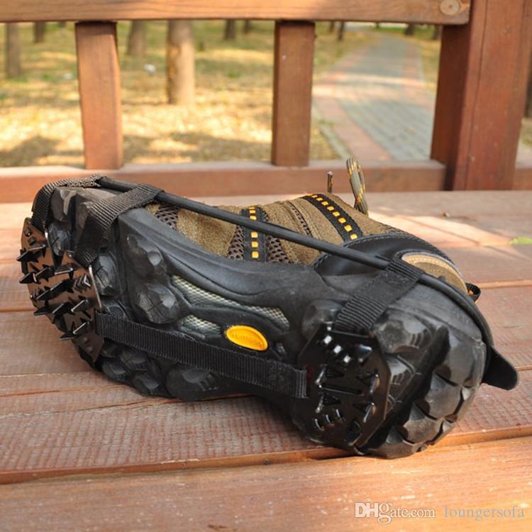 18 Diş Dağcılık Krampon Manganez Çelik Kaymaz Ayakkabı Kapak Açık Yürüyüş Kayak Ayakkabı Zinciri Için Yüksek Kalite 5 5yx B