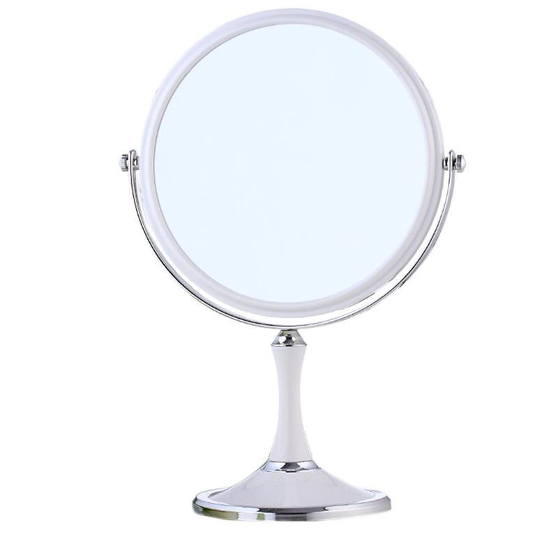 8 Inch Large European Fashion Dressing Cosmetic Make Up Magnifying Double Sided Table Mirror Elliptical Mirror White Dressing Table Mirrors Lighted Makeup Mirror From Mnyt 16 77 Dhgate Com