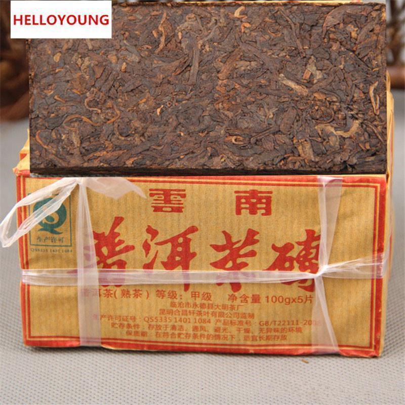 500g Maduro Pu Er chá Yunnan alta qualidade Pu er Tea Organic Pu'er Red Puer mais velho Árvore Natural Pu erh preto Puerh Tea bolo