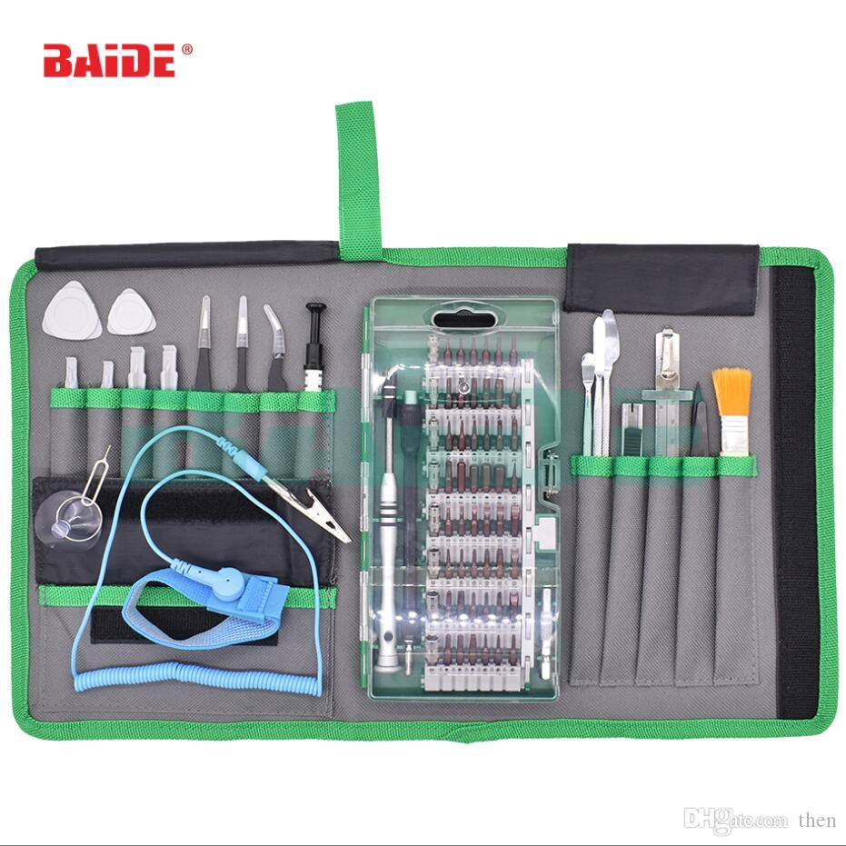 Wholesale 80 in 1 Precision Screwdriver Set All in 1 Repair Tools Kit with Cloth Bag for iPhone Cell Phone iPad Tablet PC 10set/lot