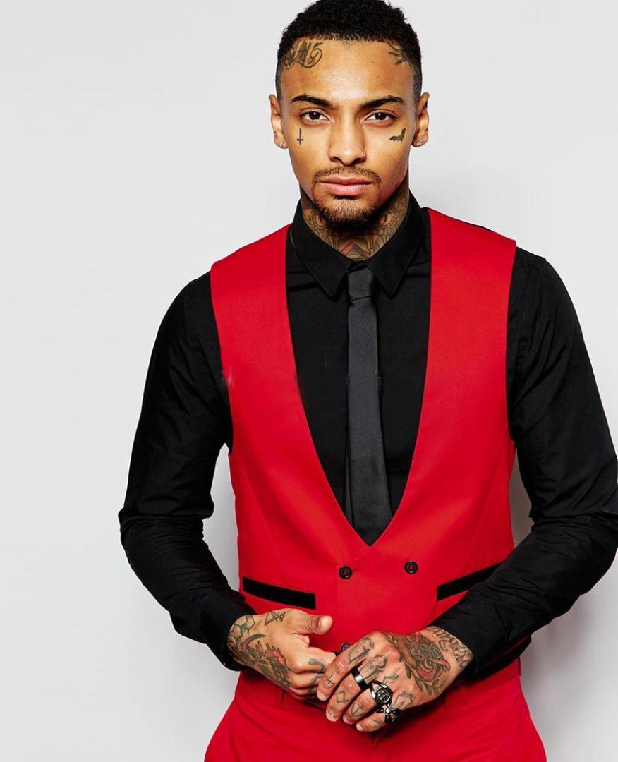 2021 Fashion Red Mens Suits Black Peaked Lapel Three Pieces Groom Tuxedo Men Suit Custom Made Slim Fit Groomsmen Jacket Pants Vest From Candice98 69 84 Dhgate Com