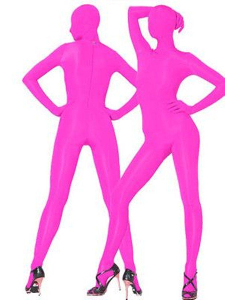 Оптовая торговля-новый Hoy розовый лайкра комбинезон fullboby сексуальный костюм S-XXL