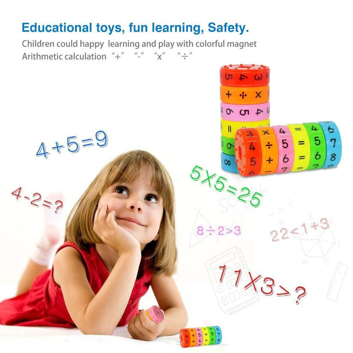 1 Set Magnetic Math Learning Toys, Magnetic Numbers and Symbols Mathematics Skills Set Arithmetic Educational Building Blocks Gifts for Kids