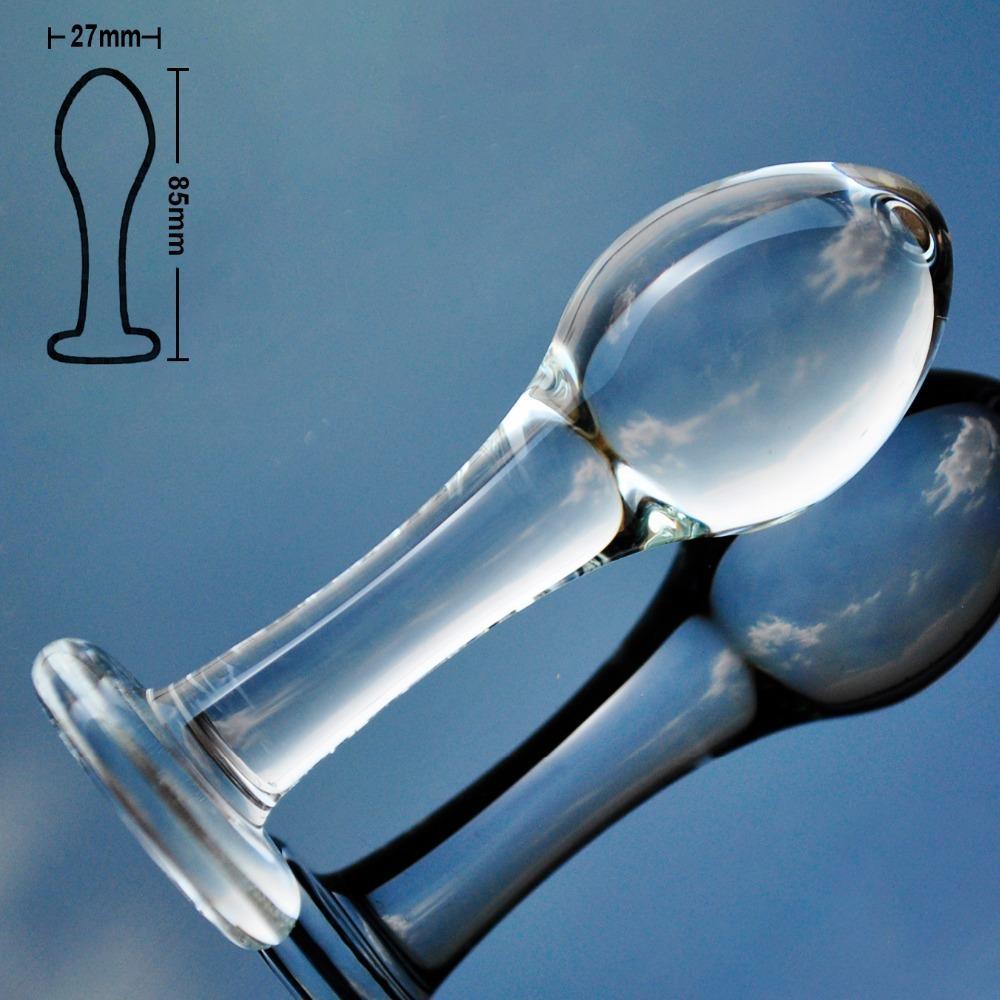 Diminuto cristal pyrex consolador pequeñas cuentas anales de cristal butt plug pene falso artificial dick juguetes adultos del sexo para mujeres gay hombres masturbarse S921