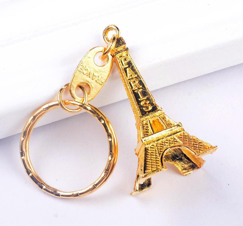 Vintage Eyfel Kulesi Anahtarlık damgalı Paris Fransa Kulesi kolye anahtarlık hediyeler Moda Altın Şerit Bronz KKA2326