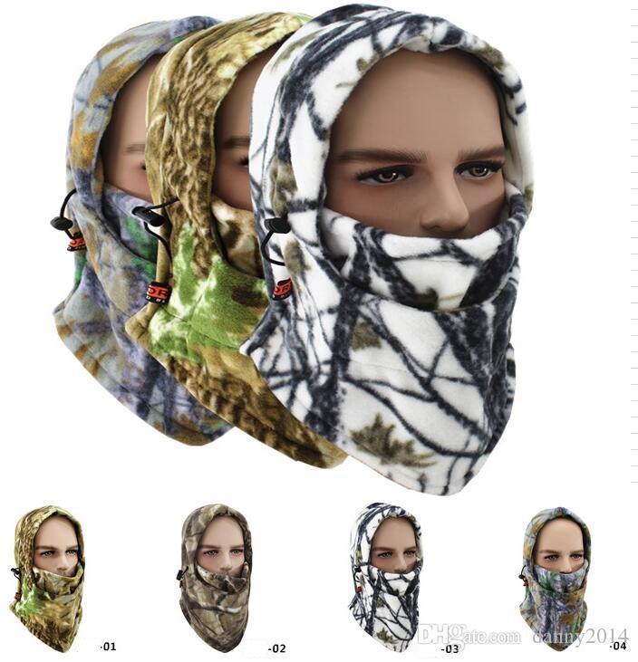 다기능 양털 모자 카모 마스크 모자 겨울 따뜻한 얼굴 마스크 사이클링 모자 windproof 스키 두건 얼굴 마스크 오토바이 스키 스노우 두건
