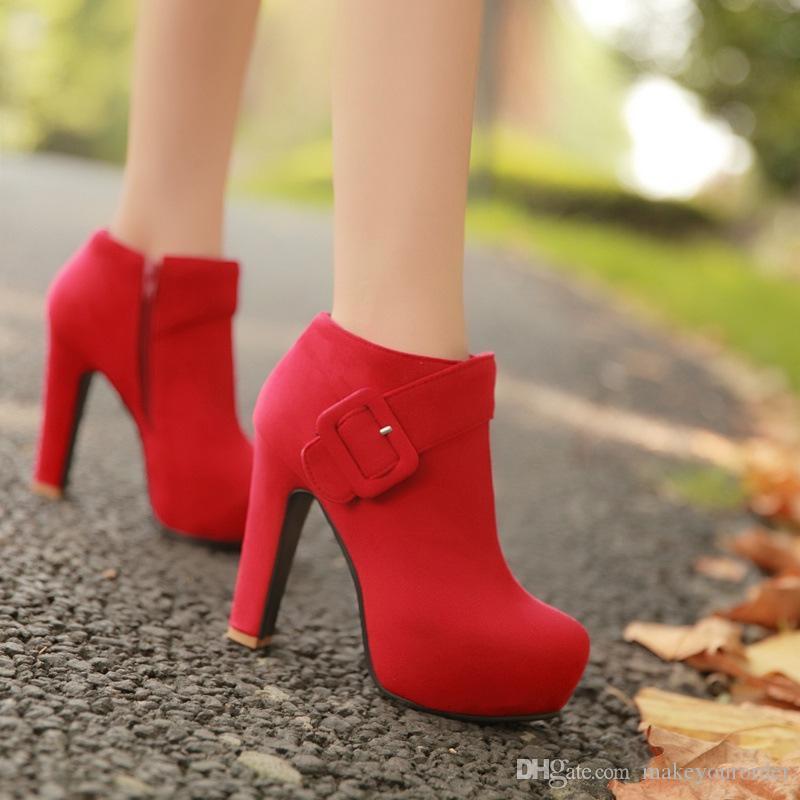 도매 무료 배송 공장 가격 섹시한 인기 높은 뒤꿈치 내부 플랫폼 여성 라운드 코 드레스 shoe053