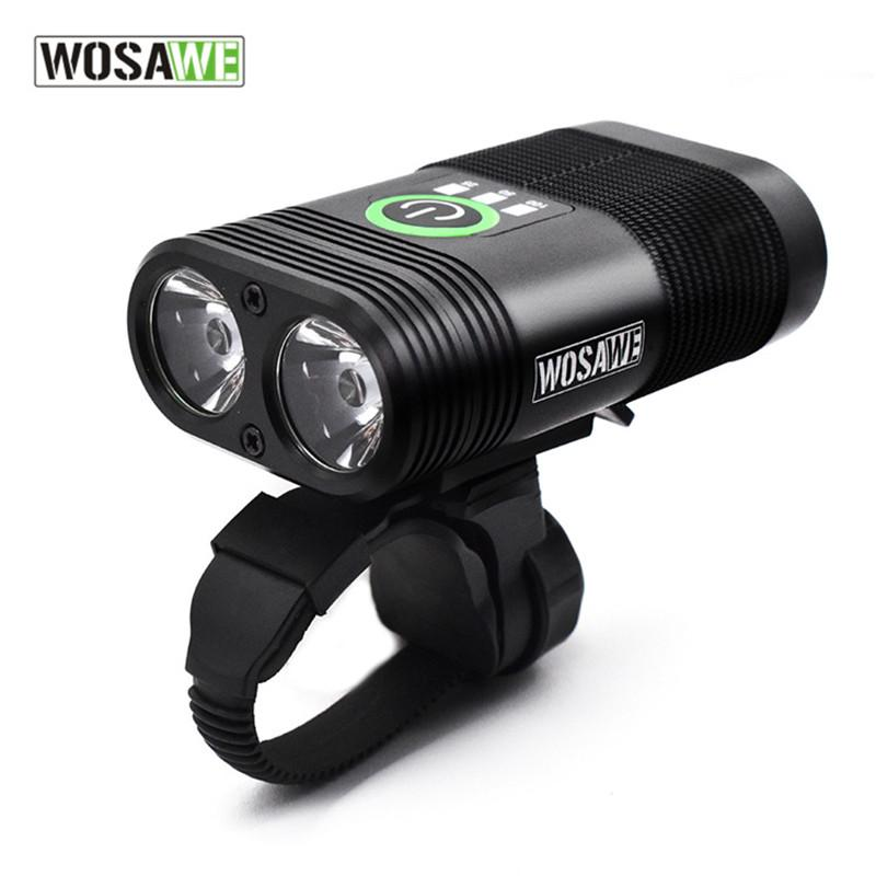 wholesale Front Bicycle Light USB Charging Integrated Double LED Lamps Headlights 2400 Lumens Headlight Cycling Bike Accessories