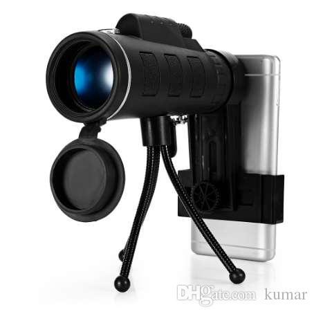 40X60 BAK4 монокуляр телескоп HD мини монокуляр открытый охота кемпинг прицелы с компасом телефон клип штатив