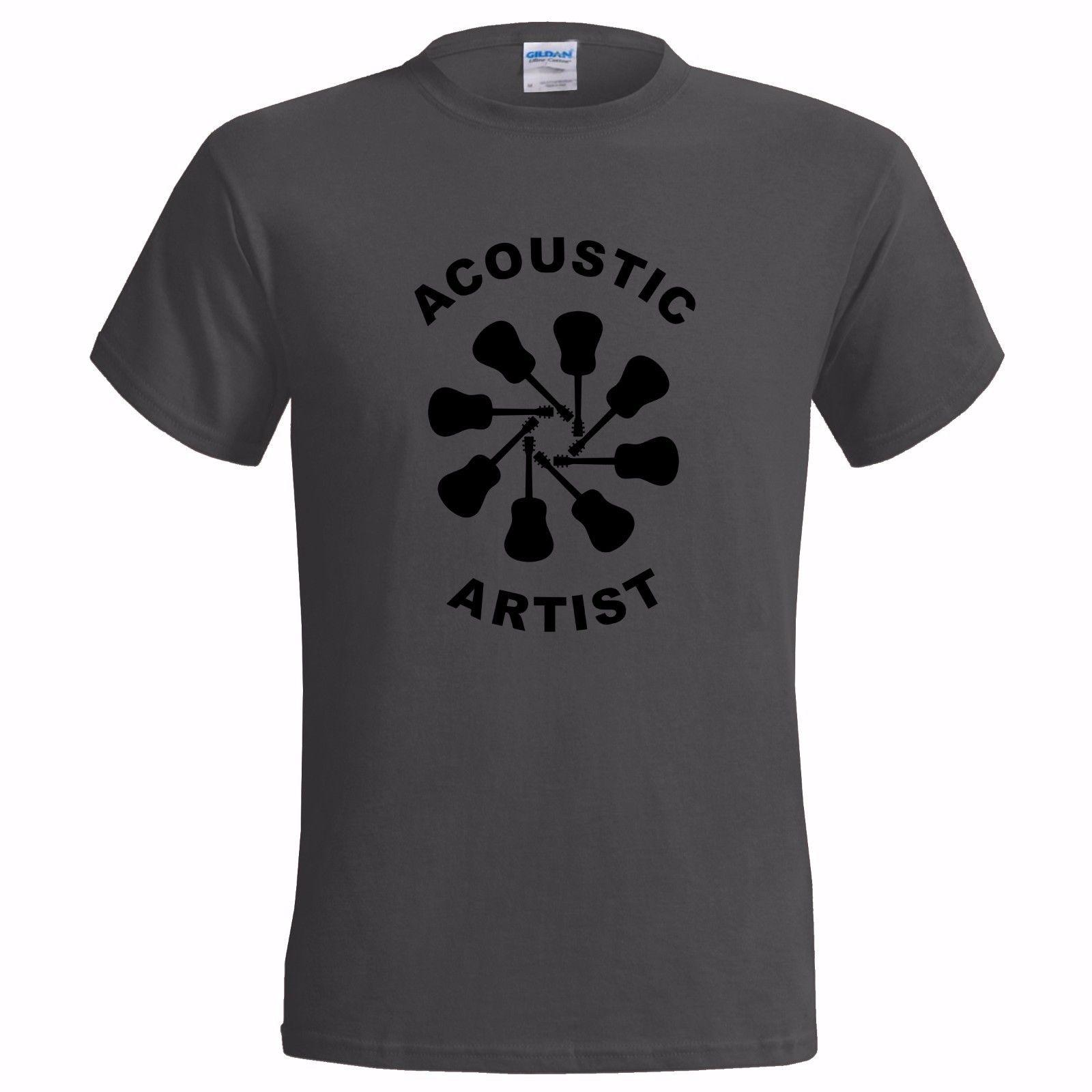 best sale top-rated cheap usa cheap sale ACOUSTIC ARTIST LOGO DESIGN MENS T SHIRT GUITAR GUITARIST PLAYER TEACHER  MUSIC Classic Quality High T Shirt Shirt T Shirt Funny T Shirts Cheap From  ...