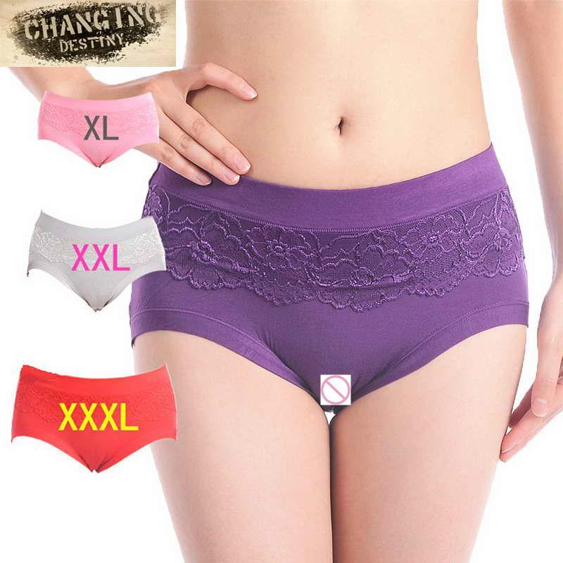 Underwear Women High Waist Lace Panties Body Shaper Briefs Women Panties Large Size Underpants
