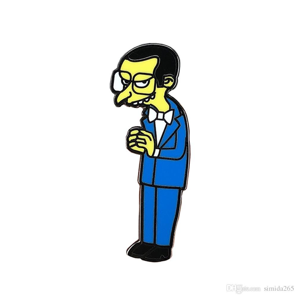 Die Simpsons-Emaille-Anstecknadel von Mr. Burns