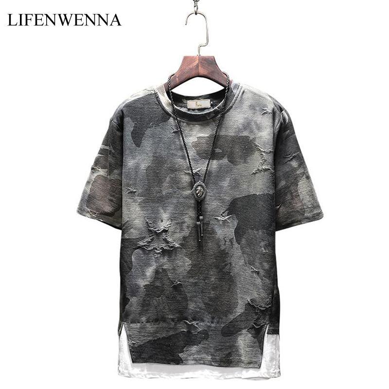 2018 Nuova Estate T Shirt Moda Uomo Nuovo Stile Design Stampa O Collo Manica Corta da Uomo T Shirt Casual Slim Fit Top Tees Uomini M-5XL