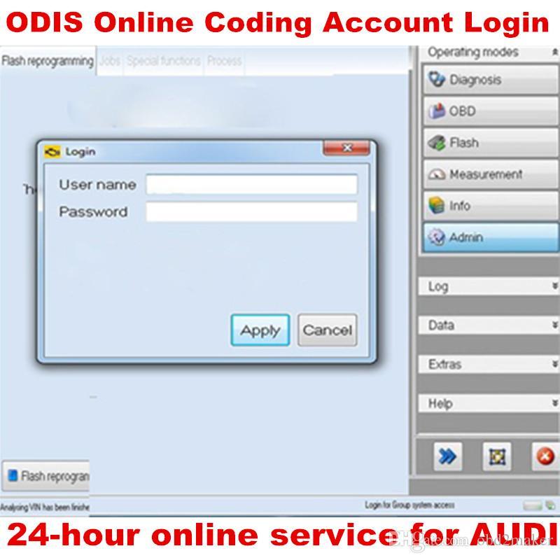 ODIS online Coding Accesso Login una volta di servizio per Audi 4.2.3 per VAG interfaccia diagnostica 5054A 4.3.3 6154