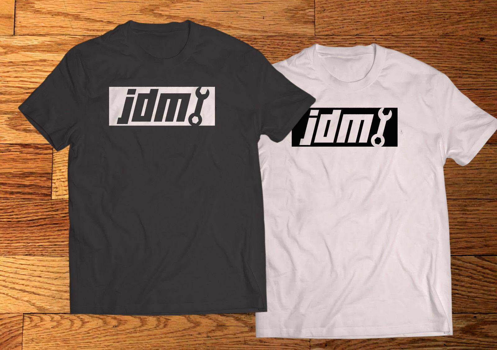 جديد JDM FRESH TOOTHBRUSH LOGO رجال أسود أبيض تي شيرت المحملة XS-3XL