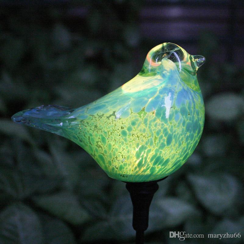 2020 Lenfon Solar Powered Outdoor Garden Stake Led Light Songbird