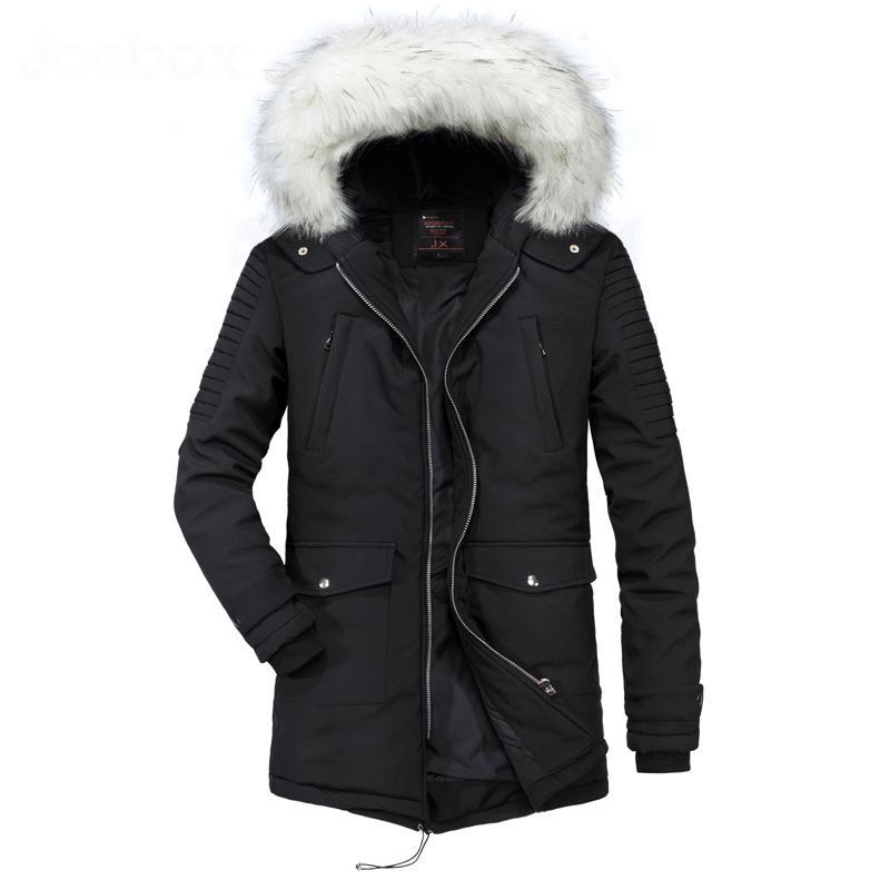 magasiner pour authentique Acheter Authentic Nouvelles Arrivées 2019 2018 New Thicken Long Men Veste Hiver Homme Big Detachable Fur Collar  Parka Jacket Men From Xiatian8, $95.1 | DHgate.Com