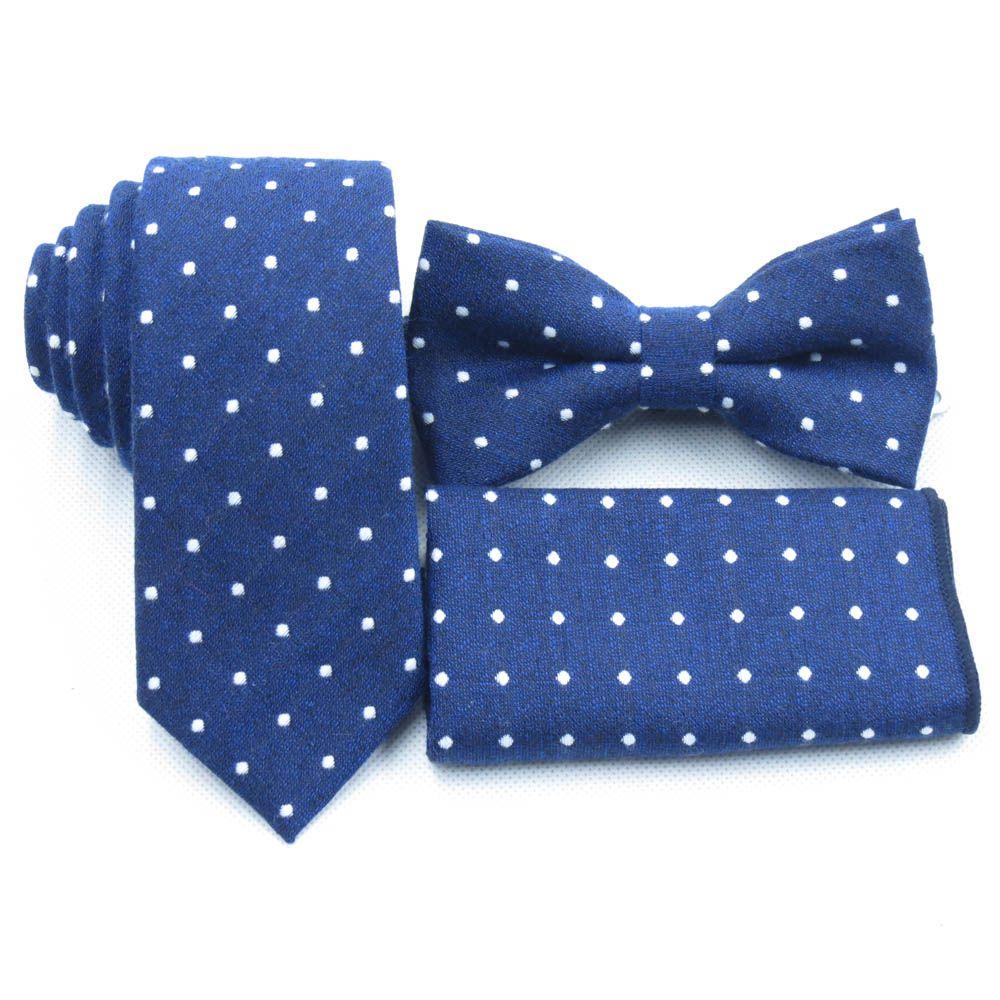 gravatas azuis marinhos claras, polka dot branco bow tie bolso toalha, gravata de algodão boutique, gravata borboleta azul profundo dos homens