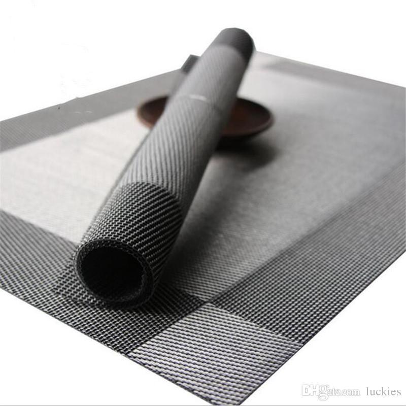 Moda PVC Tavolo da pranzo Mat Placemat tessuto vinile antiscivolo isolamento Placemat lavabile Kitchen Table Mats 30cm * 45CM