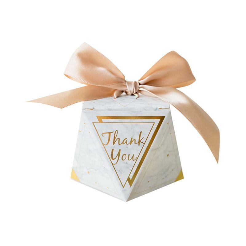 100 adet Yeni Mermer Elmas Düğün Favor ve Tatlı Hediye Çanta Şeker Kutusu Düğün Bebek Duş Doğum Günü Konuklar için Olay Parti Malzemeleri