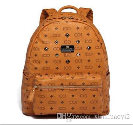 2016 خمر المرأة حقيبة بو الجلود حقيبة مدرسية للمراهقين فاسق برشام الإناث حقائب السفر الأسود حقائب موهير