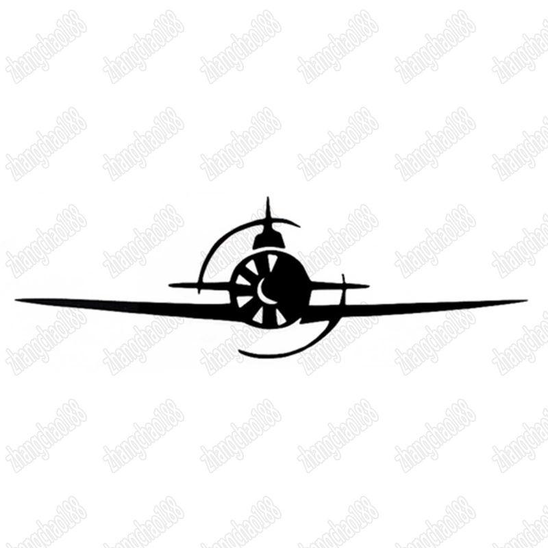 Clássico estilo livre velho avião padrão adesivo de carro laptop etiqueta CA-380