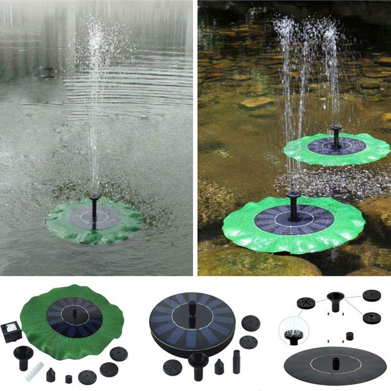 Solar Water Pump Floating Waterpump Panel Kit Fountain Pool Pump Kit Lotus Leaf Floating Pond Water Submersible Garden Water Pump HH7-1097