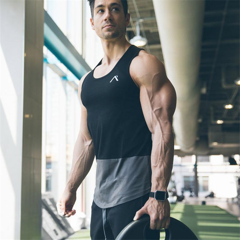 Letni Najnowszy Tank Top Men Nowe Siłownie Odzież Bodybuilding Fitness Trening Mięśni Mężczyźni Kamizelka Odzież Sportswear Undershirt