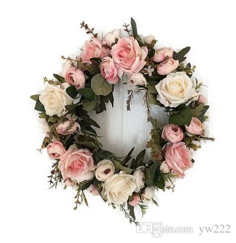Classic Artificial Simulation Flowers Garland for Home Room Garden Lintel Decoration