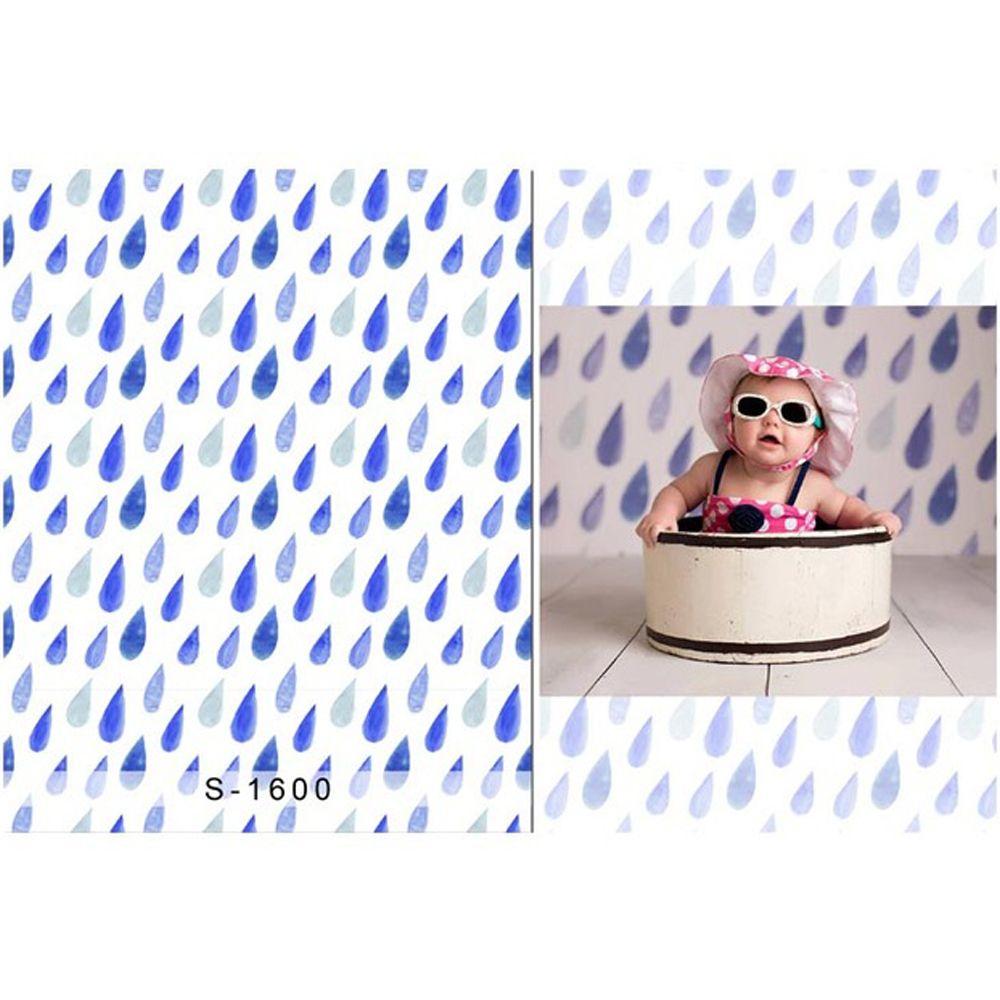 Blue Raindrops Baby Shower Backdrop Newborn Photography Props Kids Children Photo Studio Backgrounds Fond De Studio Photographe