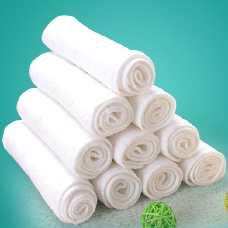 6 Layers Microfiber Baby Nappies Reusable Baby Infant Newborn Cloth Diaper Nappy Liners Insert Fraldas Reutilizaveis 50pcs wholesale