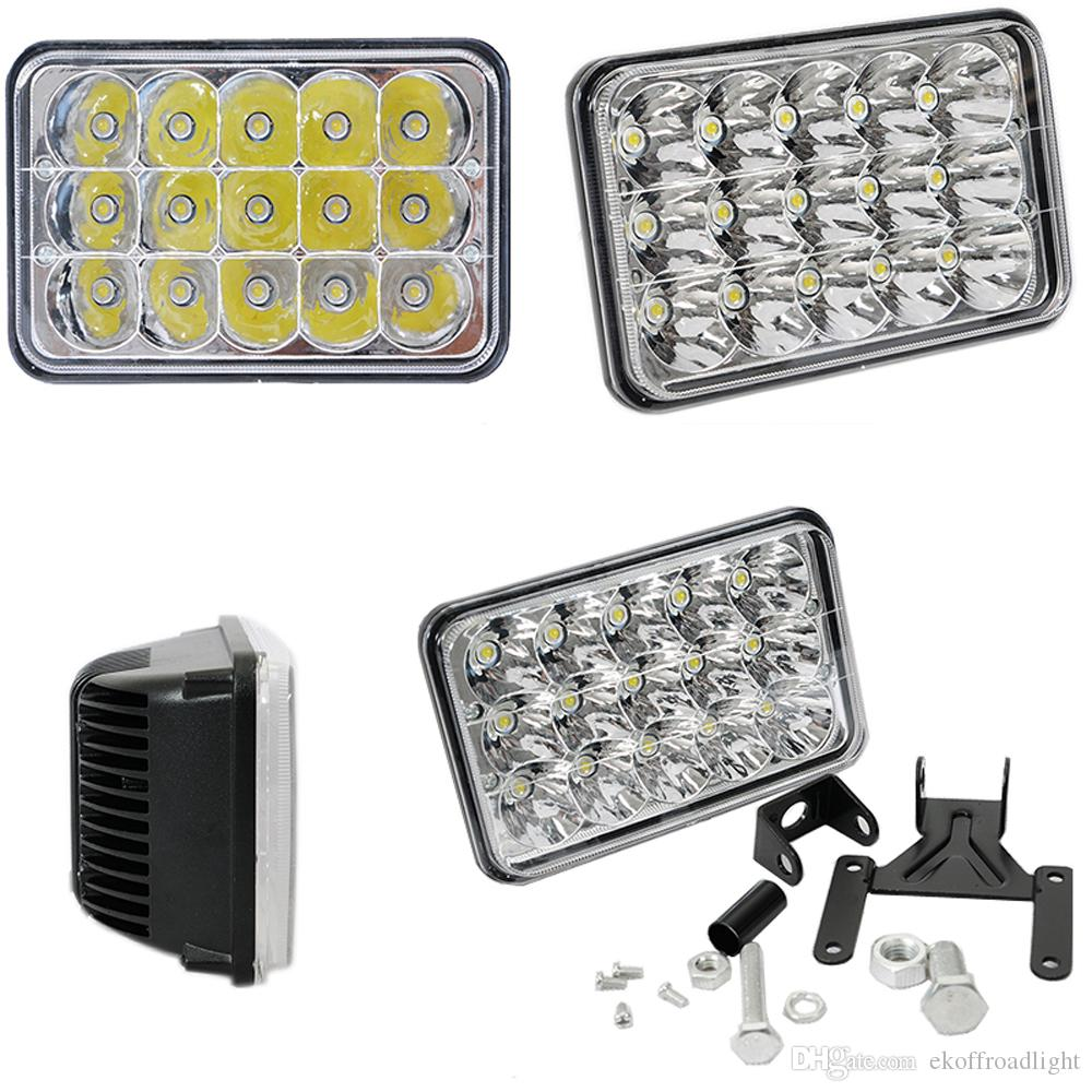 ECAHAYAKU 2x 45 w 7 polegadas alto / baixo feixe LED luzes de trabalho Luz de Condução para Caminhões Cherokee XJ 12 V 24 V Farol de Caminhão para Motocicleta