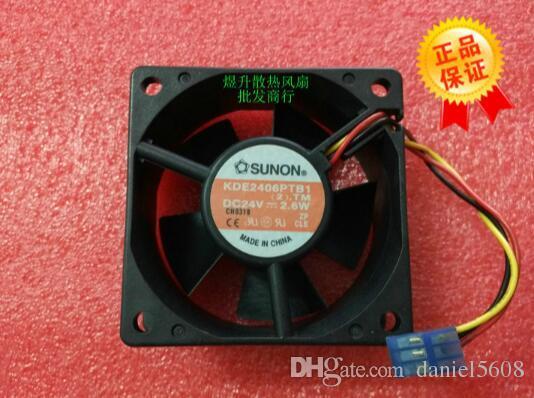 Orijinal SUNON 6025 KDE2406PTB1 60 * 60 * 25 MM DC24V 2.6 W inverter fan
