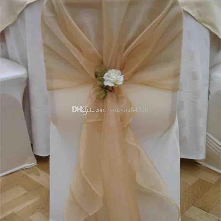 200 см*65 см красочные органзы стул капот для свадьбы использования с бесплатная доставка Цена