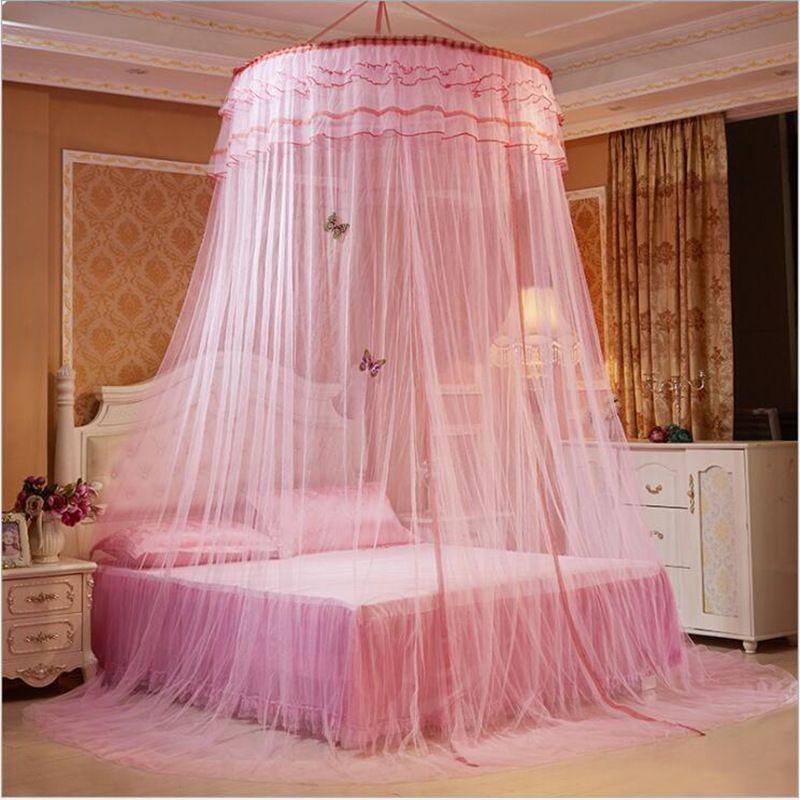 Горячий Универсальный круглый шнурок Fly Москитная сетка, Летняя кровать Canopy Москитная сетка, сетка кровать Для маленьких детей взрослых, mosquiteiros пара камы