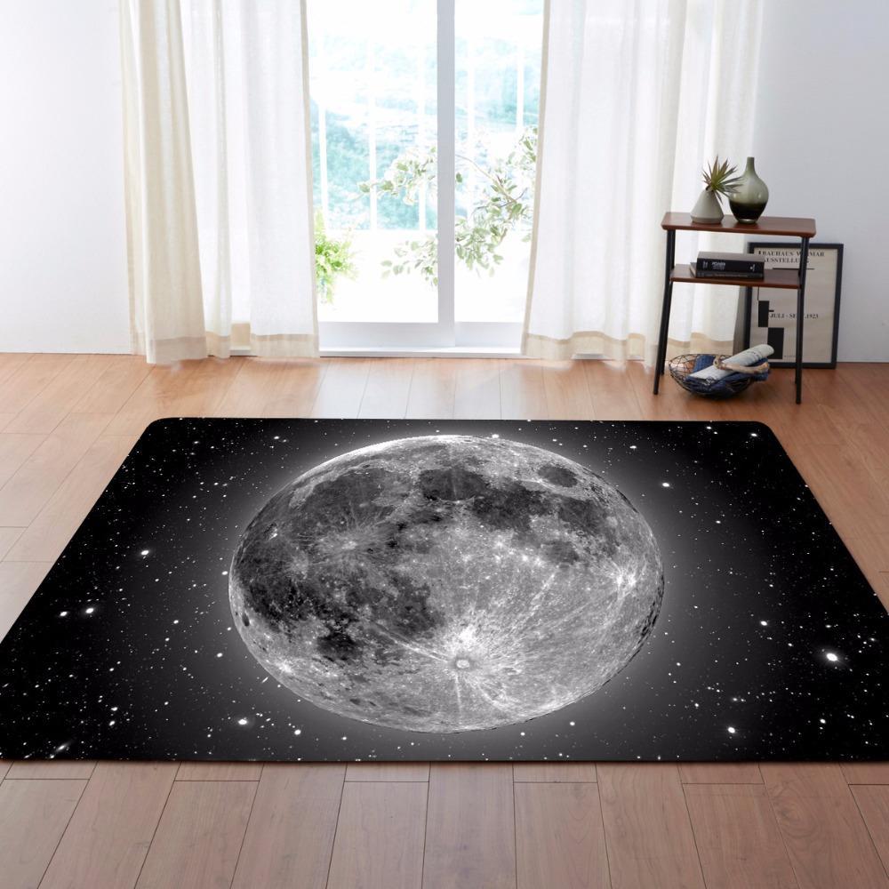 Ay Uzay Yıldız Jakarlı Koltuk Sandalye Paspaslar Paspas Halılar kitchem Bedroom Toptan oda Alan halılar yaşamak için