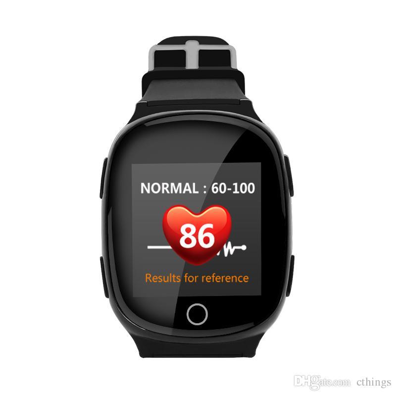 15d8e2ca2f3f D100 GPS Tracker Reloj pulsera para ancianos Aplicación móvil Google Map  Call Button Despegue alarma GSM GPRS Tracker para iOS Teléfono Android