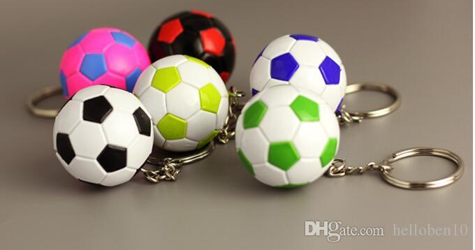 Football Keychain Car Key Chain Keyrings Football Team Fans Small Gifts Sports Commemorative Gifts