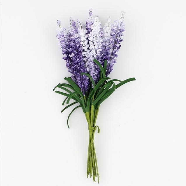 Yapay Lavanta Çiçek Buketi Renkli Köpük Çiçekler Düğün Çelenk Karalama Defteri Dekorasyon için Sahte Bitkiler 100 adet / grup