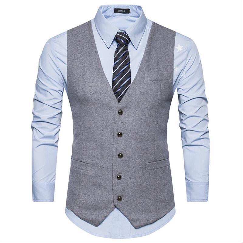Un nouveau style de costume en automne et un gilet de costume pour le gilet des hommes