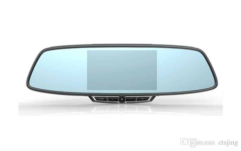 FHD 1080 P Çizgi Kam-140 Geniş Açı Dashboard Kamera Kaydedici 5.0 inç çift lens Araç Araba DVR Kamera Kaydedici Arka Kamera ile