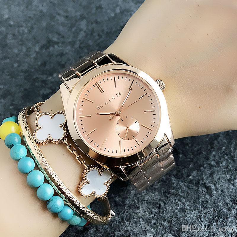 Modemarke Frauen Mädchen kleine Zifferblatt Stil Metall Stahlband Quarz Armbanduhr M53